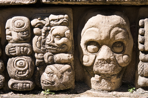 Detail from the door frames at Temple 22.