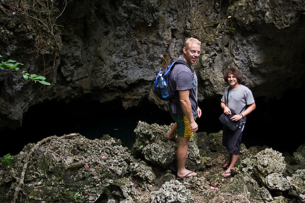 Matt and Aaron at the freshwater cave.