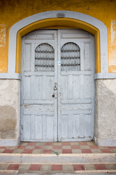 Old doors on the streets of Granada.