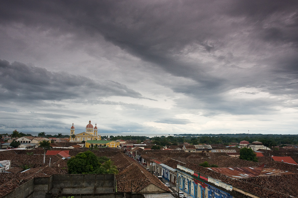The view from the bell tower of Iglesia La Merceo.