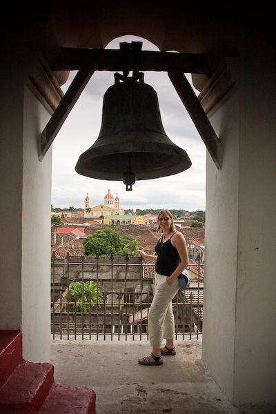 Keryn in the bell tower.